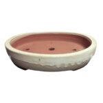 Vit oval bonsaikruka/bonsai pot, oval bonsai container large bonsai/trees.