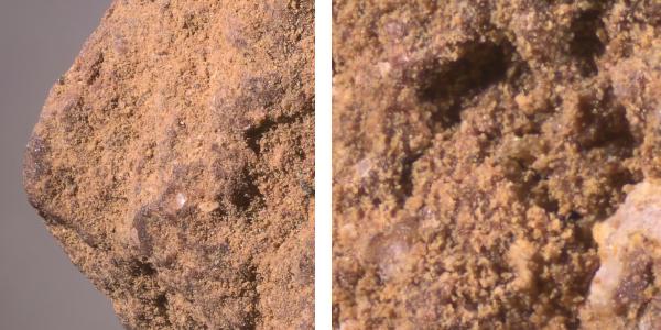 Mikroskopbild av 2mm akadama, 20 och 55x,