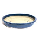 Oval japansk bonsaikruka, blå, av fin kvalitet.