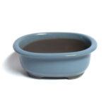 Oval, baby-blå bonsaikruka
