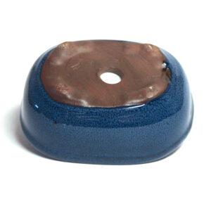 Oval, blå bonsai-kruka