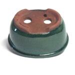 Oval, grön bonsai-kruka