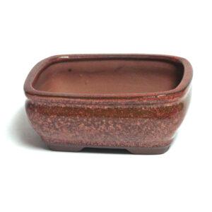 Rektangulär, röd bonsai-kruka