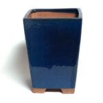 Bonsaikruka, kvadratisk, blå bonsaikruka för kaskadform.