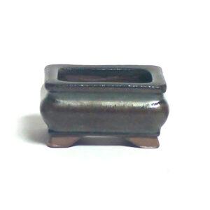 Rektangulär, brun bonsai-kruka