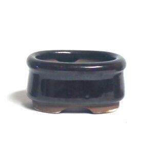 Oval, brun bonsai-kruka