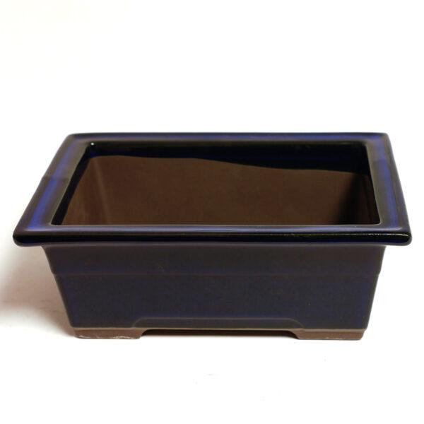 Rektangulär, japansk bonsaikruka, blå