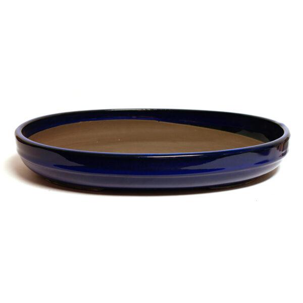 Oval, blå bonsaikruka